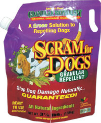 Single 3.5 lb. Bag of Scram for Dogs Scram for Dog,  Repellent for Dogs, Granular pet repellent, get rid of dogs, dog scram, scram dogs