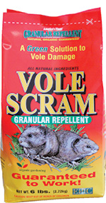 Single 6.0 lb. Vole Scram Bag Vole Scram, Vole Repellents, get rid of voles