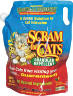 Single 3.5 lb. Bag of Scram for Cats Scram for Cat,  Repellent for Cats, Granular pet repellent, get rid of cats, cat scram, scram cats
