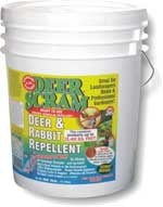 Single 25 lb. Bucket of Deer Scram Deer Scram, Deer Repellent, Rabbit Repellent, granular repellent, get rid of deer