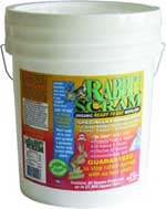 Single 25 lb. Bucket of Rabbit Scram repelant, repelent, rabbit scram, rabbitscram, rabbit repellent, rabbit repellant, protect garden from rabbit, natural repellent, rabbit repellent, rabbit repellant, organic repellent, granular, reduce rabbit damage, nuisance, garden damage, in my yard